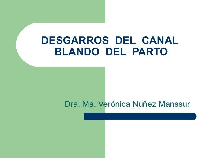 DESGARROS DEL CANAL  BLANDO DEL PARTO   Dra. Ma. Verónica Núñez Manssur