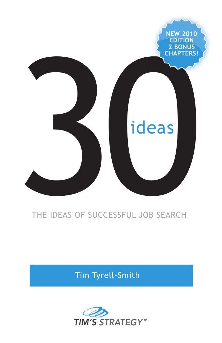 30 ideas of successful job search