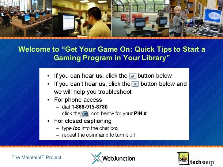 "Welcome to ""Get Your Game On: Quick Tips to Start a Gaming Program in Your Library"""