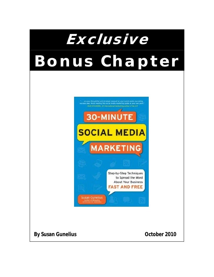 30 Minute Social Media Marketing - Bonus Chapter by Susan Gunelius