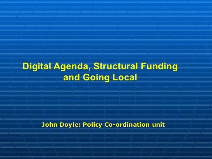 Europe 2014-2020: pistes pour le numérique dans les fonds structurels