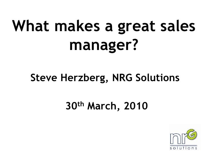 300310 What Makes A Great Sales Manager