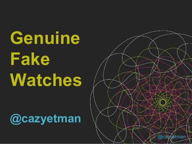 300 Seconds Brighton - Genuine Fake Watches by Caz Yetman