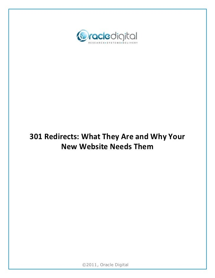 301 Redirects - What They Are and Why Your New Website Needs Them