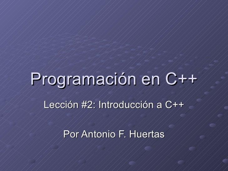 Introduccion a c++