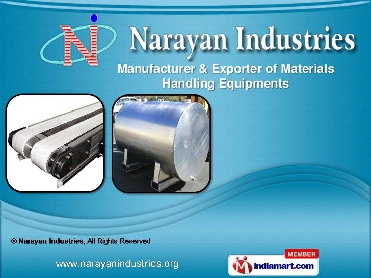 Manufacturer & Exporter of Materials      Handling Equipments