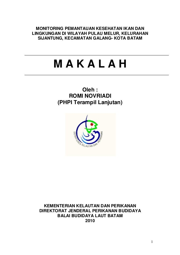 30323286 makalah-monitoring-pulau-melur