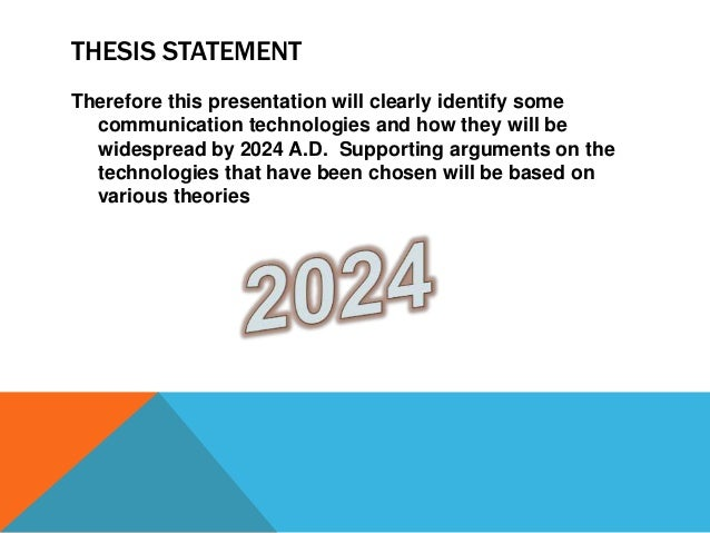 thesis statement for technology in education A thesis statement expresses the central idea  a new online education  is argued to be the most significant development in educational technology in our.