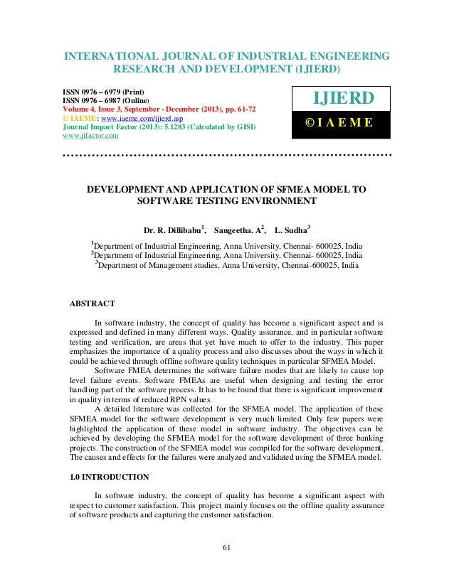 International Journal of Industrial Engineering and Development (IJIERD), INTERNATIONAL JOURNAL 4,ResearchSeptember - Dece...