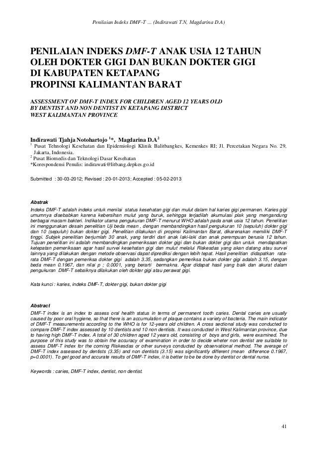 Penilaian Indeks DMFT