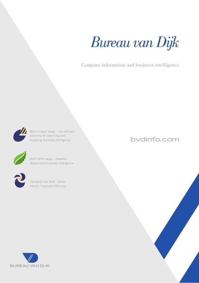 Brochure bureau van dijk for Bureau van dijk