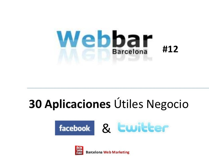 30 aplicaciones facebook y twitter negocio