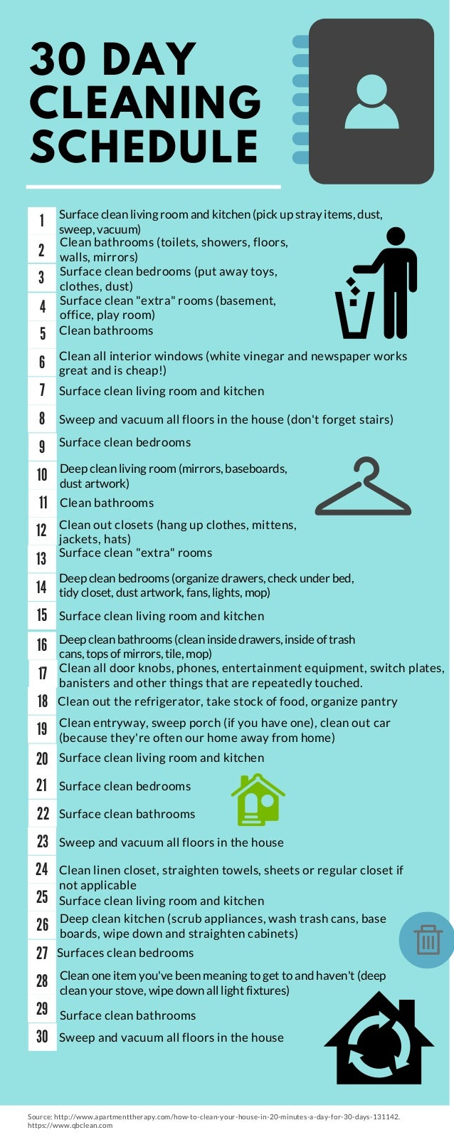 30 Day House Cleaning Plan 28 Images Fall