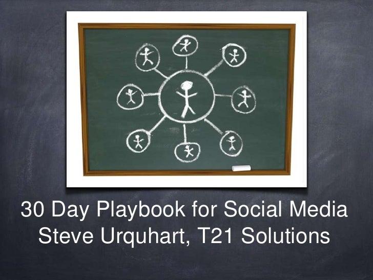 30 Day Playbook - Social Media