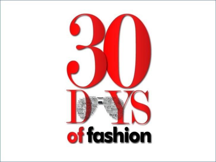 30 Days of Fashion 2012 (India)
