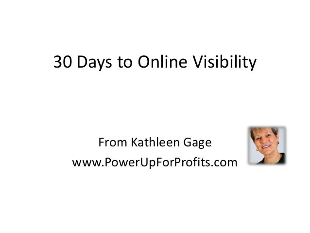 30 days to online visibility