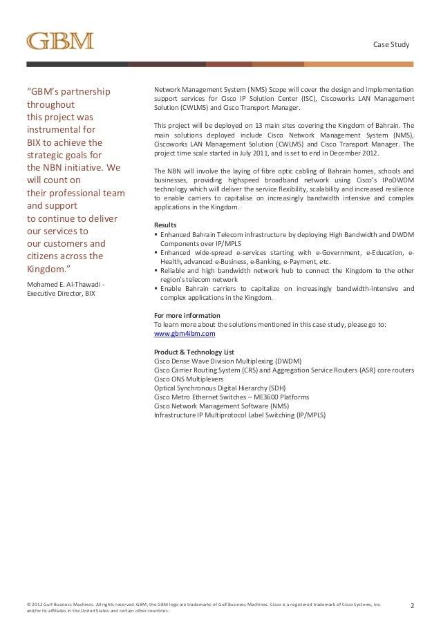 cisco case study on management