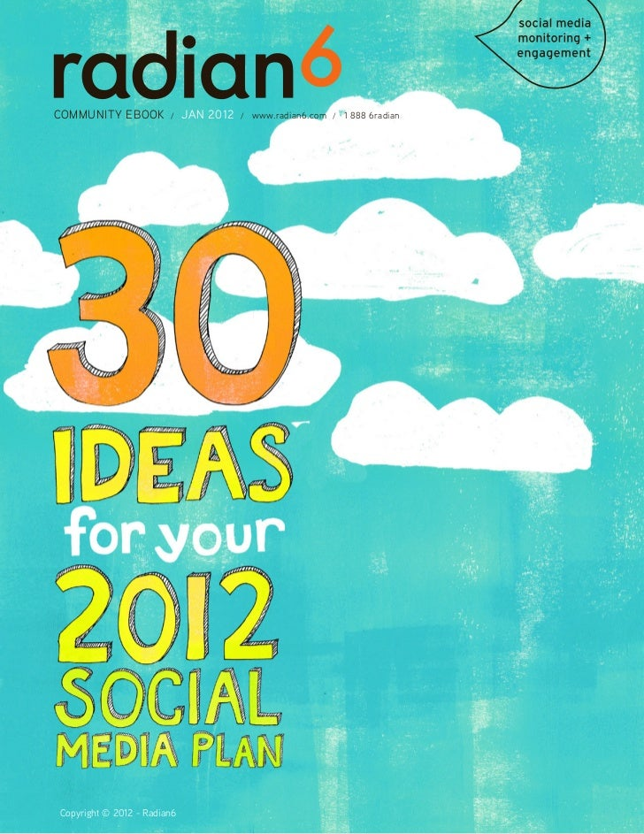 30 ideas fo your 2012 social media plan