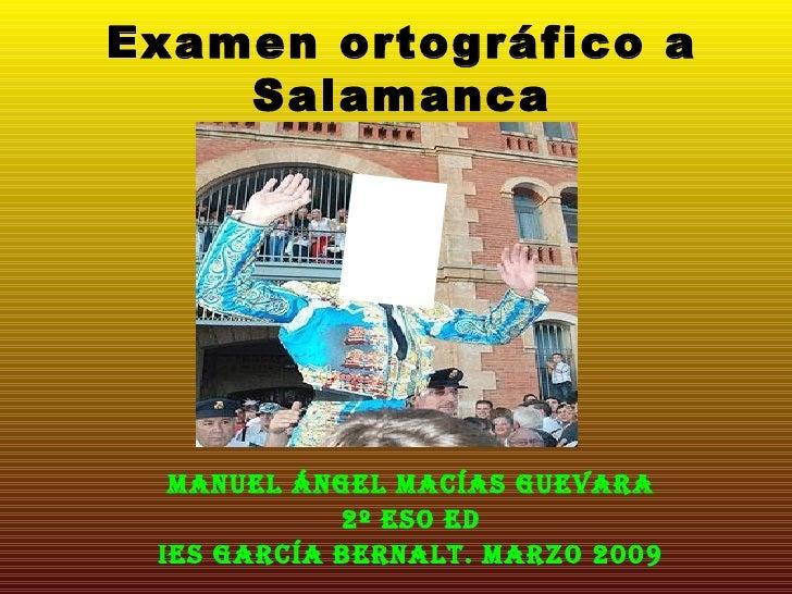 30m Examen Ortográfico A  Salamanca