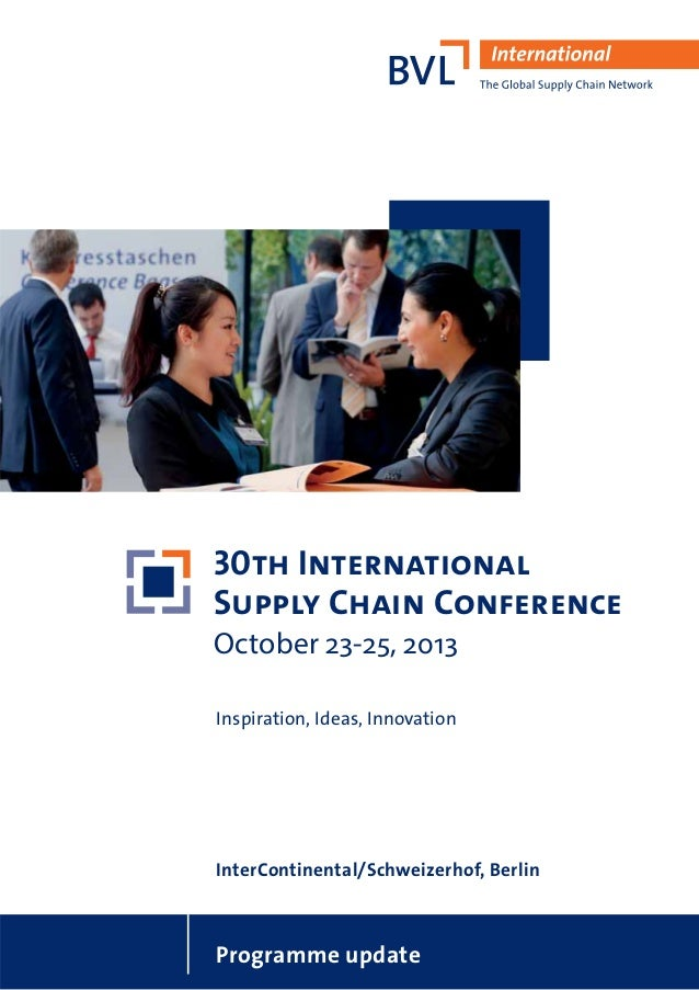 30th International Supply Chain Conference 2013 - Programme and Information
