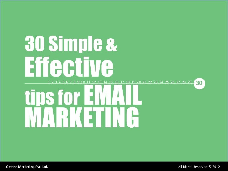 30 Simple &           Effective           tips for EMAIL                         1 2 3 4 5 6 7 8 9 10 11 12 13 14 15 16 17...