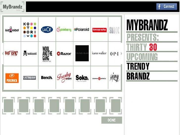 MyBrandz 30 upcoming trendy brandz