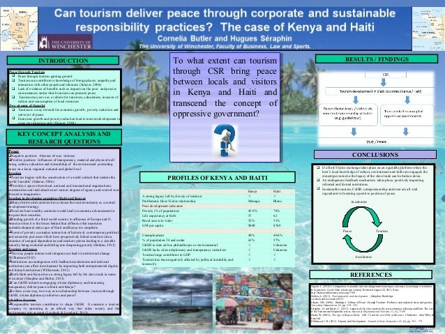 printed by www.postersession.com Peace through Tourism  Peace through tourism gaining ground  Tourism can contribute to ...