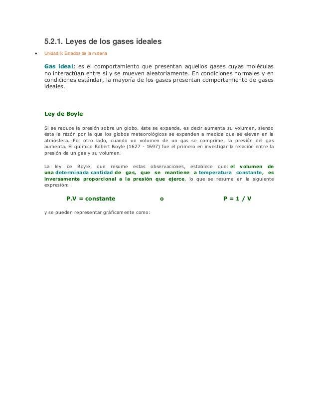 Ley de Los Gases Formulas Leyes de Los Gases Ideales