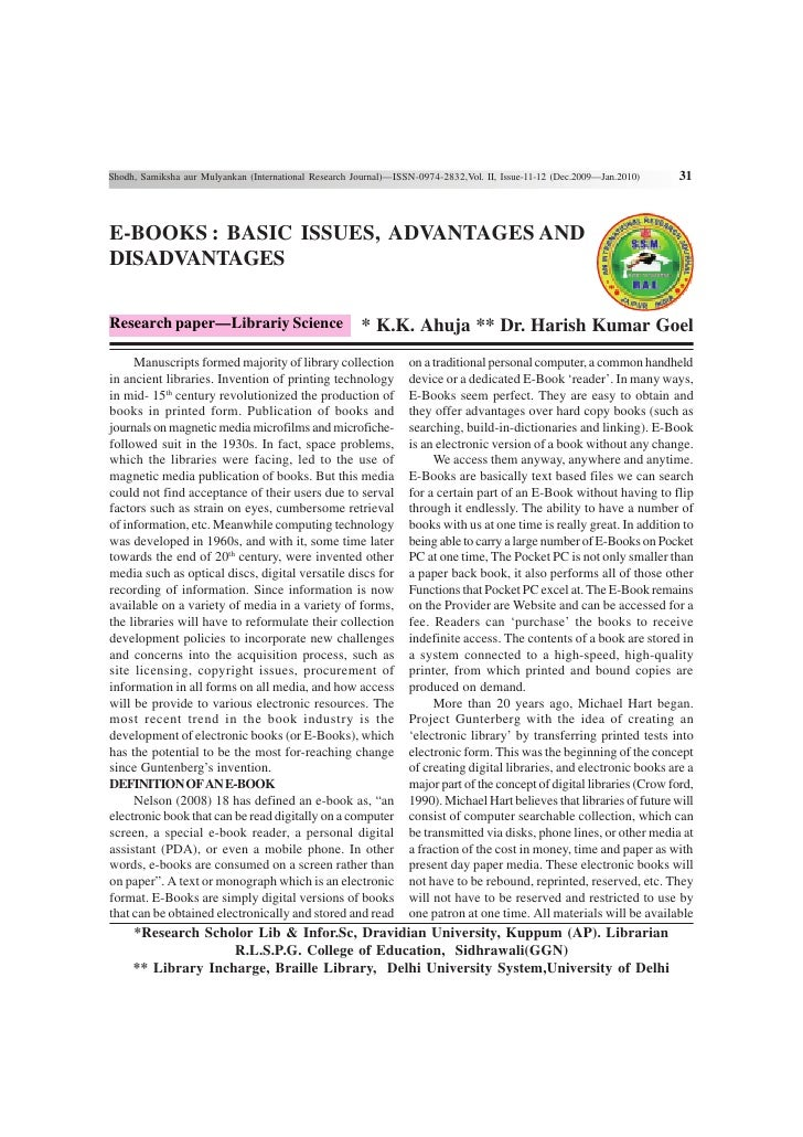 Shodh, Samiksha aur Mulyankan (International Research Journal)—ISSN-0974-2832,Vol. II, Issue-11-12 (Dec.2009—Jan.2010)   3...