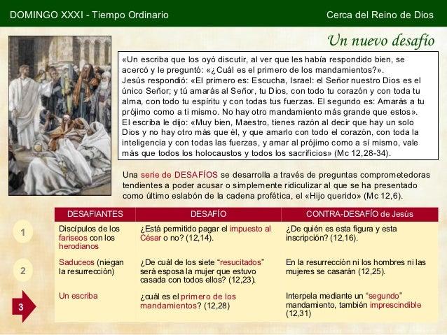 DOMINGO XXXI - Tiempo Ordinario                                                    Cerca del Reino de Dios                ...