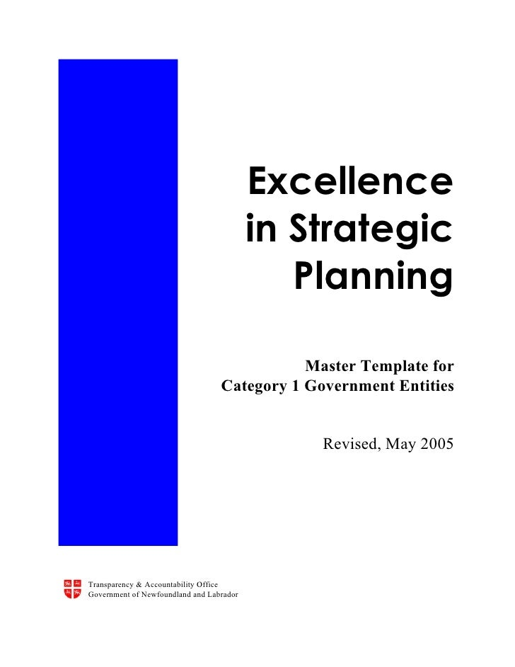 Excellence                                           in Strategic                                              Planning   ...