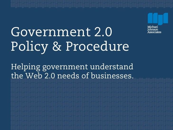 Public Sphere: Gov 2.0 - John Haining