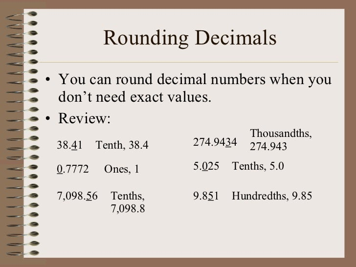 Rounding decimals worksheets for grade 6