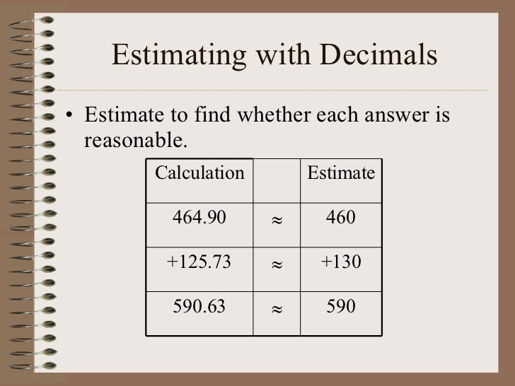 3 1 Rounding And Estimating