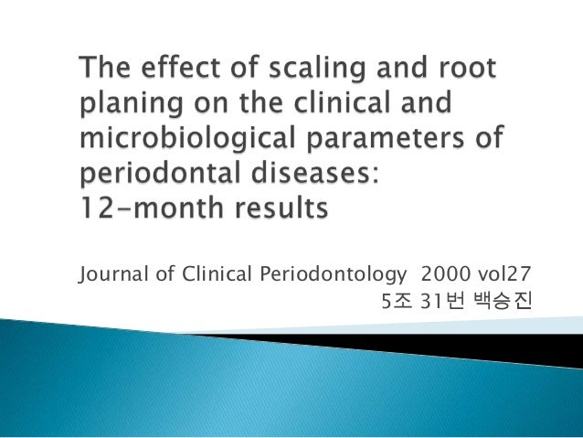 Journal of Clinical Periodontology 2000 vol275조 31번 백승진