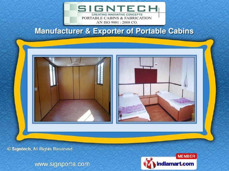 Manufacturer & Exporter of Portable Cabins
