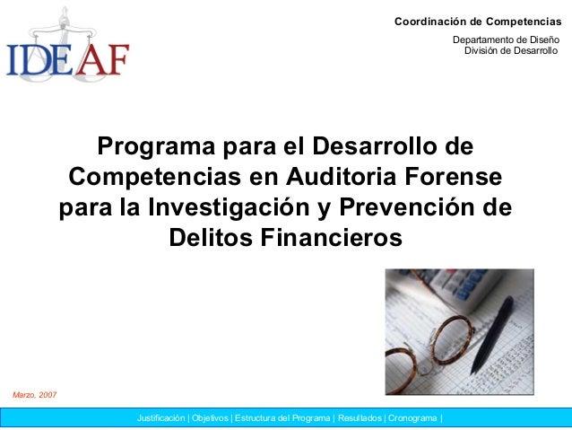 Programa para el Desarrollo de Competencias en Auditoria Forense para la Investigación y Prevención de Delitos Financieros...