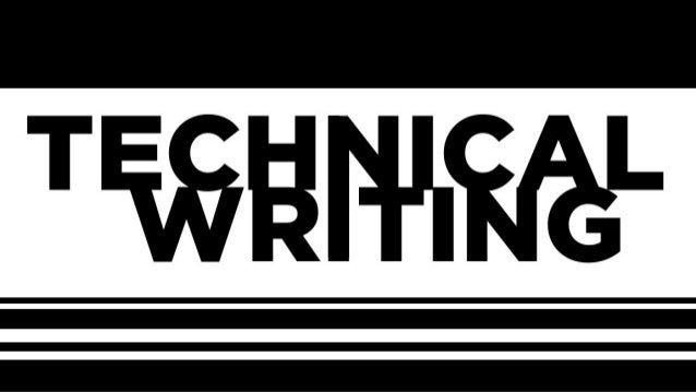 Technical Writing, August 29th