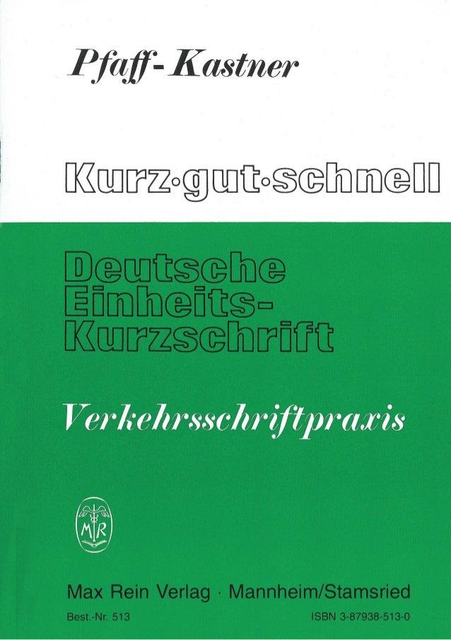 Dt Einheits-Kurzschrift