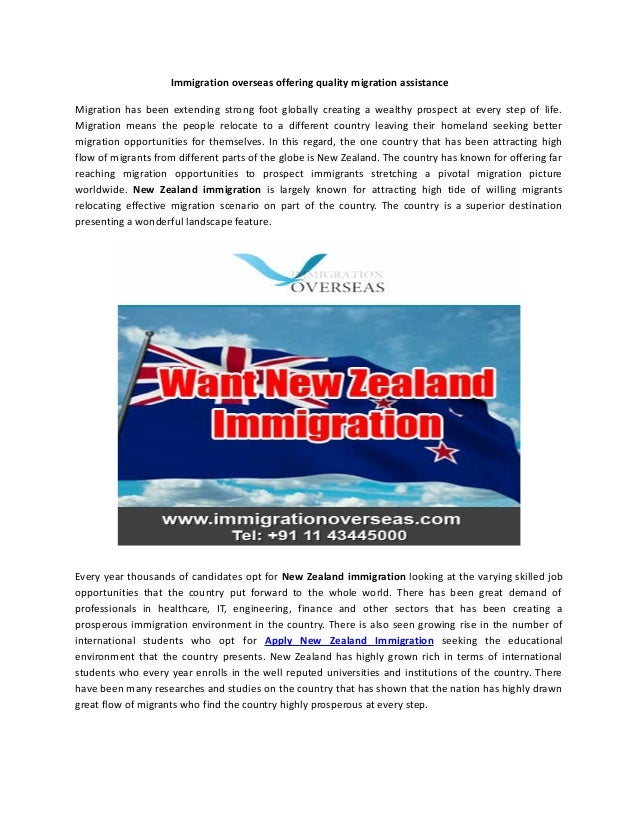Immigration overseas offering quality migration assistance Migration has been extending strong foot globally creating a we...