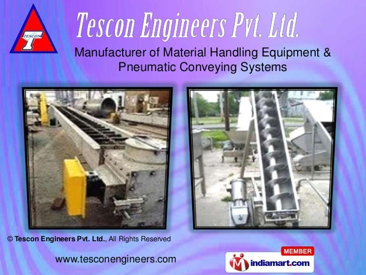 Manufacturer of Material Handling Equipment &                           Pneumatic Conveying Systems© Tescon Engineers Pvt....