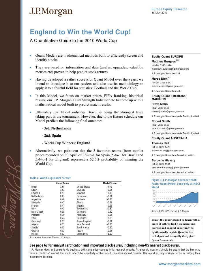 31537878 jp-morgan-quantitative-guide-to-world-cup-2010
