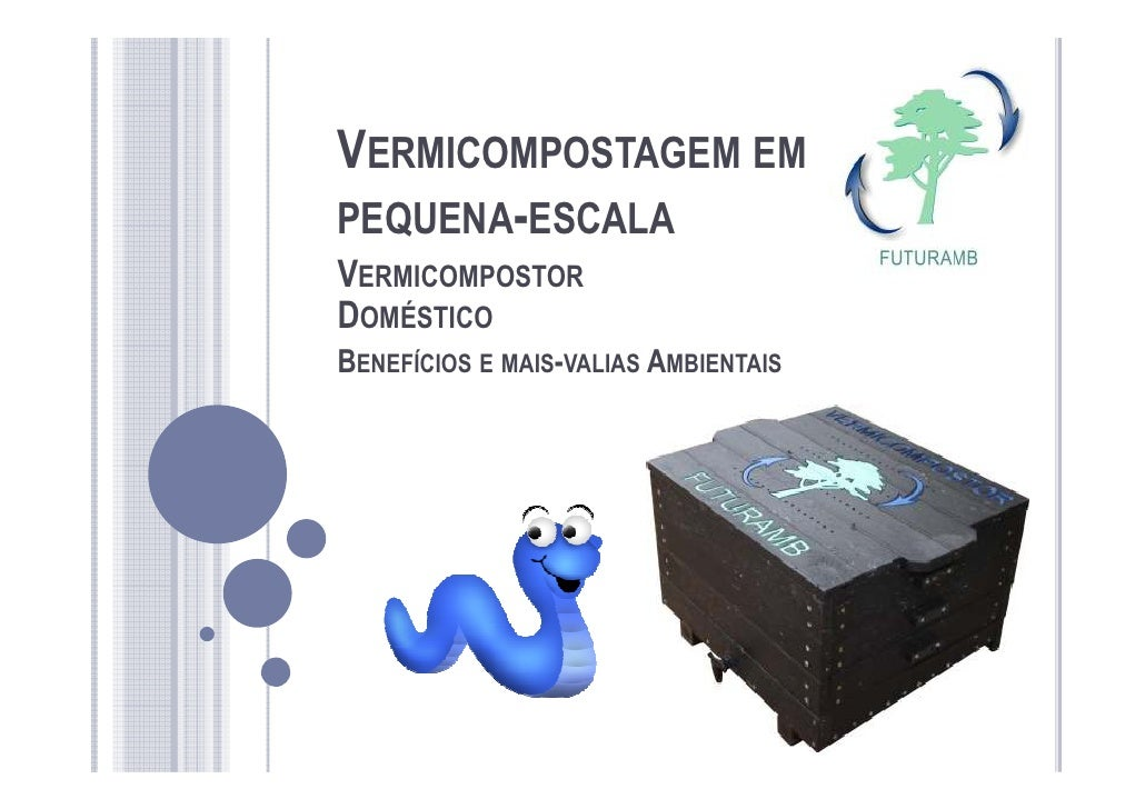 VERMICOMPOSTAGEM EMPEQUENA-ESCALAVERMICOMPOSTORDOMÉSTICOBENEFÍCIOS E MAIS-VALIAS AMBIENTAIS