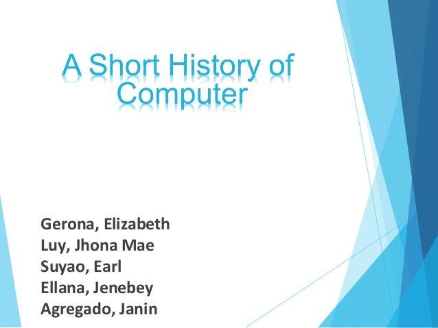 Gerona, Elizabeth Luy, Jhona Mae Suyao, Earl Ellana, Jenebey Agregado, Janin