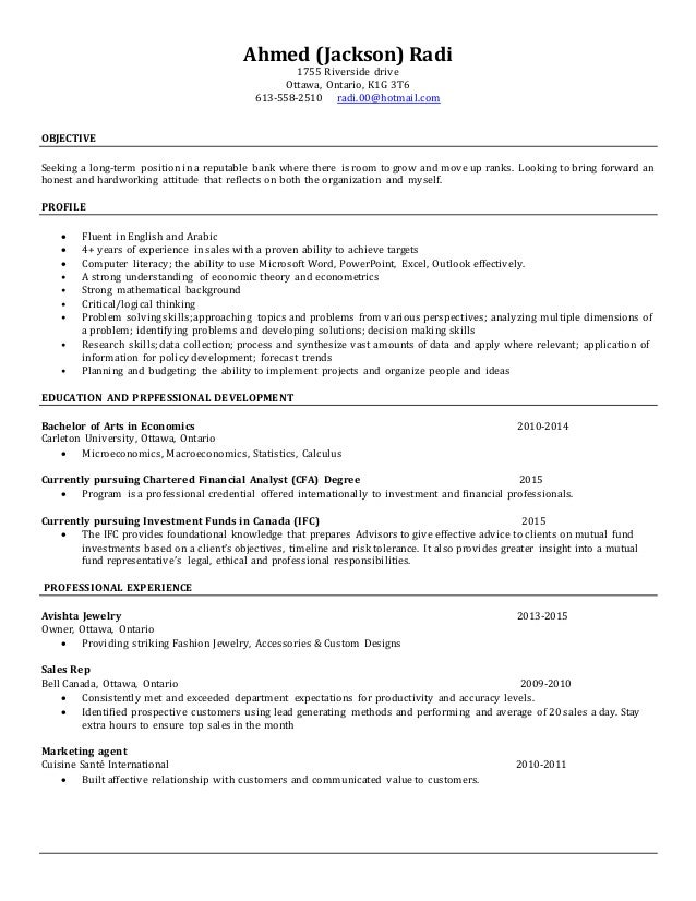 new updated resume jan 2015