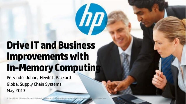 Drive IT and Business Improvements with In-Memory Computing