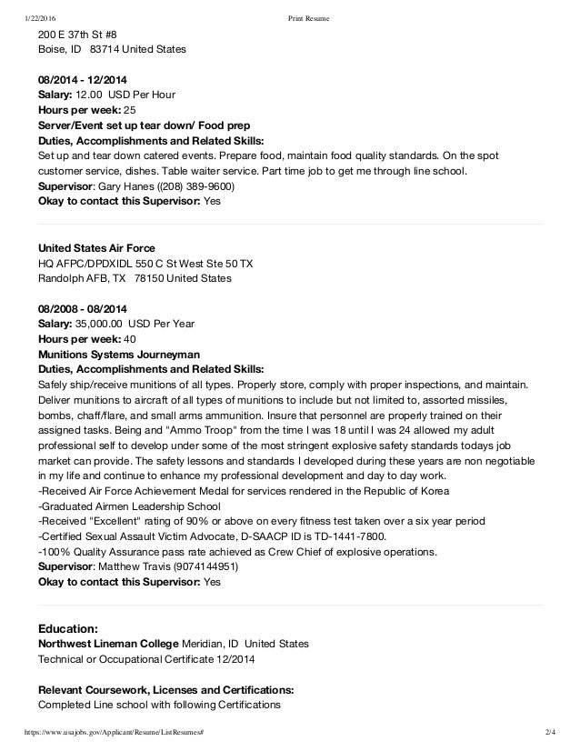Usajobs resume tips