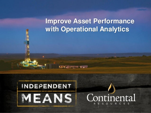 Improve Asset Performance with Operational Analytics
