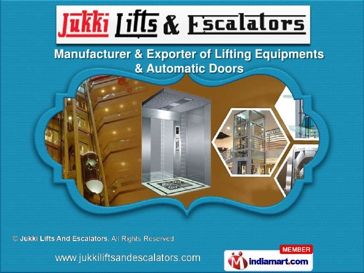 Jukki Lifts And Escalators Andhra Pradesh  india