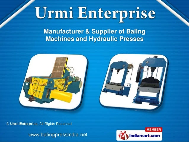 Manufacturer & Supplier of BalingMachines and Hydraulic Presses